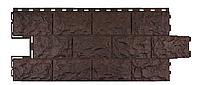 Фасадные панели Доломит Коричневый 1137x472 мм Дачные FINEBER