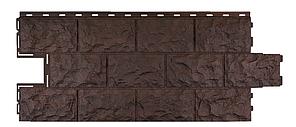 Фасадные панели Коричневый 1137x472 мм Дачные Доломит FINEBER