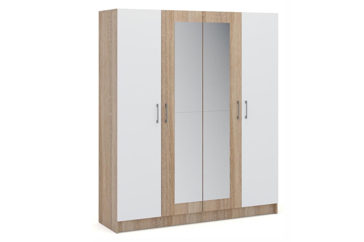Шкаф для одежды 4Д  Алена, Белый, Империал (Россия)