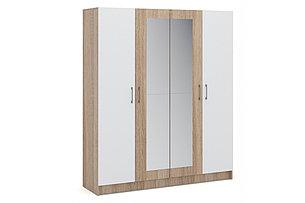Шкаф для одежды 4Д  Алена, Белый, Империал (Россия), фото 2
