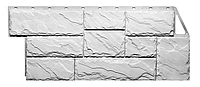 Фасадные панели Крупный камень Белый 1080x452 мм Дачные FINEBER