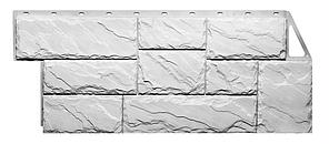 Фасадные панели Белый 1080x452 мм Дачные Крупный камень FINEBER