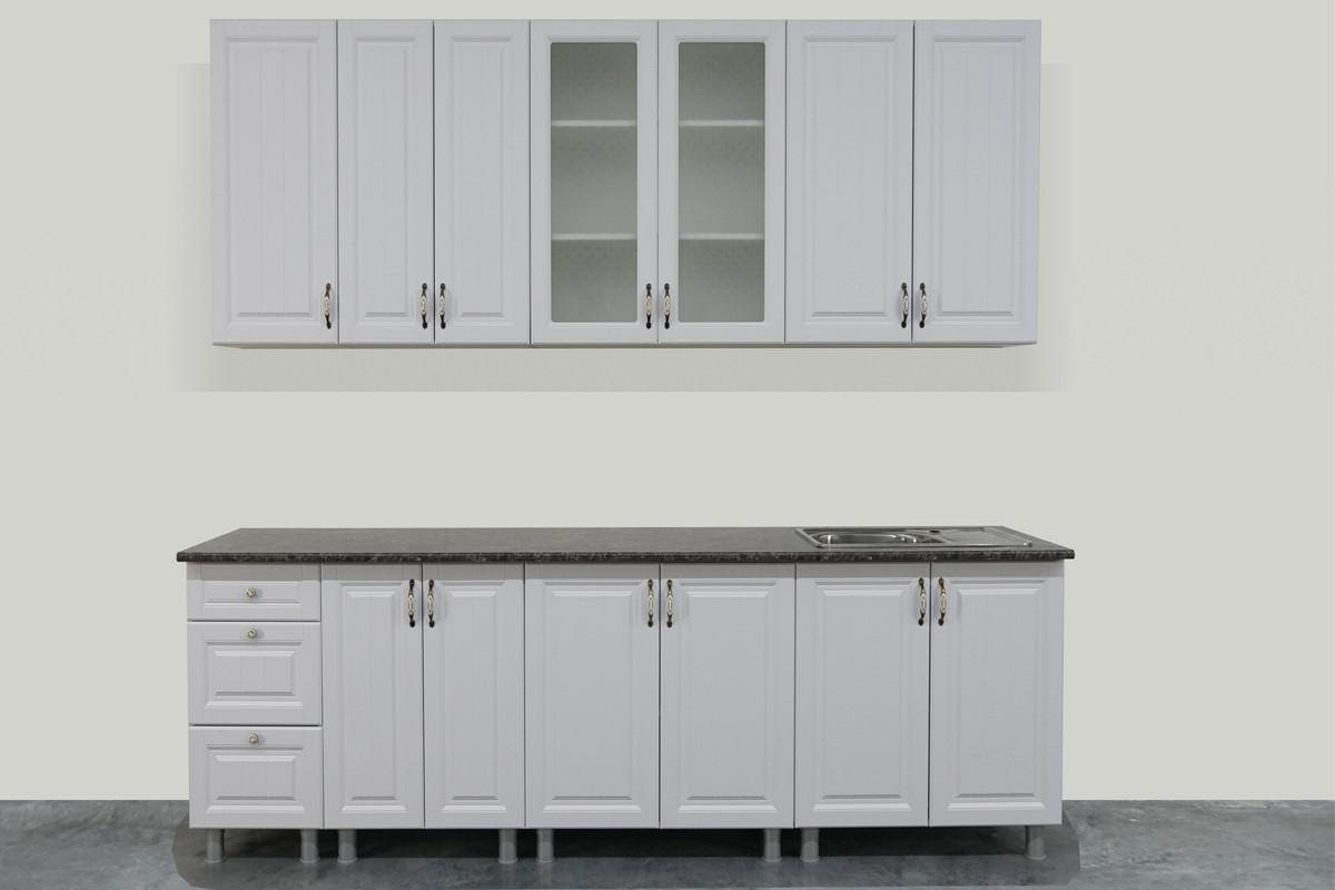 Комплект мебели для кухни Прованс 2600, Белый, СВ Мебель(Россия)