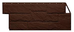 Фасадные панели Крупный камень Коричневый 1080x452 мм Дачные  FINEBER