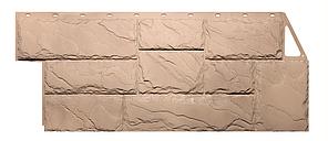 Фасадные панели Бежевый 1080x452 мм Дачные Крупный камень FINEBER