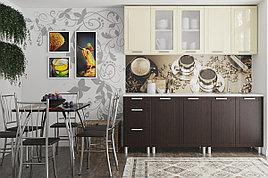 Комплект мебели для кухни Геометрия 2000, Ваниль/Венге, СВ Мебель(Россия)