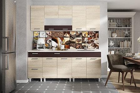 Комплект мебели для кухни Арабика 2000, Дуб Сонома, СВ Мебель(Россия), фото 2