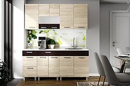 Комплект мебели для кухни Арабика 1800, Дуб Сонома, СВ Мебель(Россия)