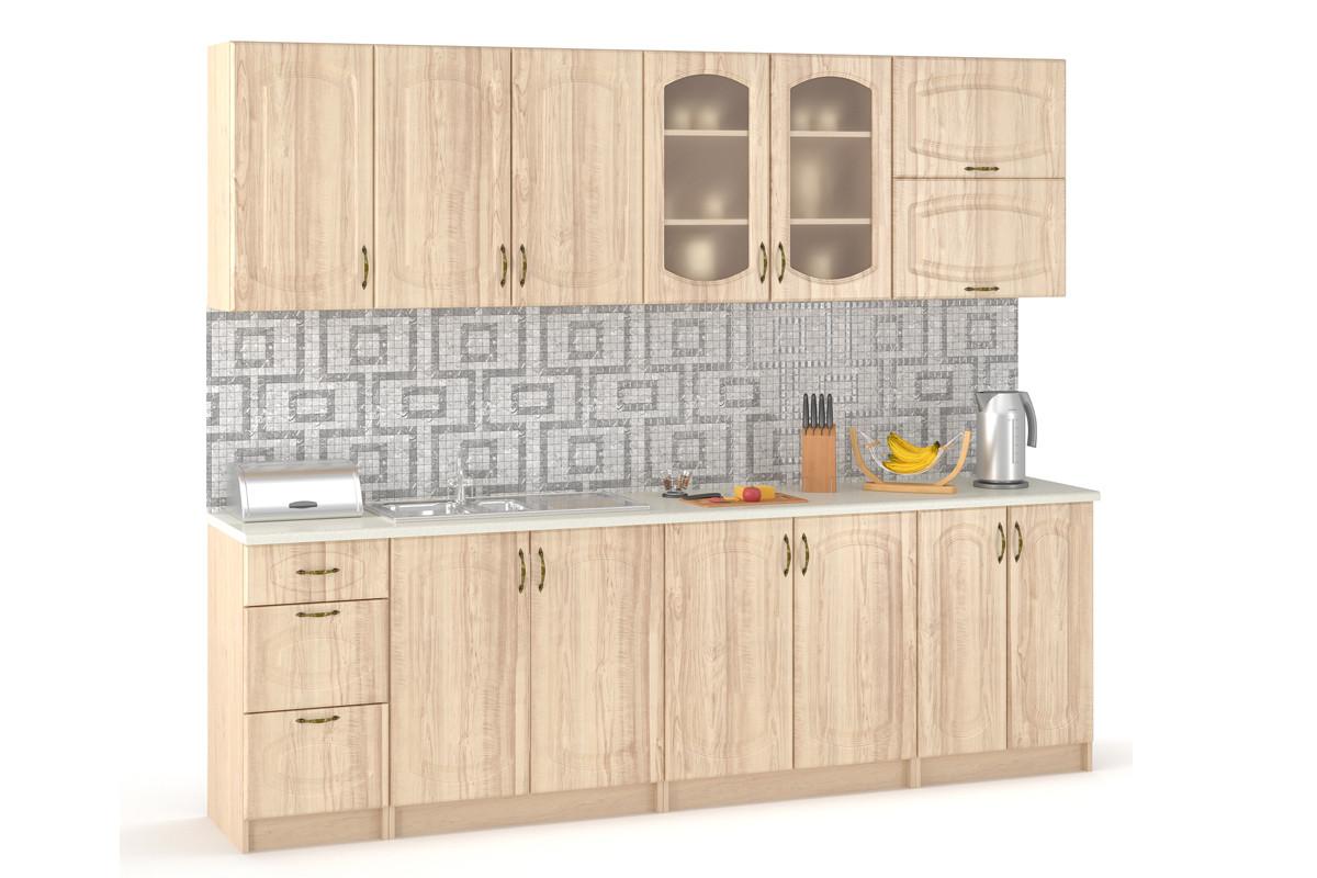 Комплект мебели для кухни Паула 2600, Береза, MEBEL SERVICE(Украина)