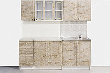 Шкаф-стол 400,4Я как часть комплекта Алина, Мрамор, MEBEL SERVICE (Украина), фото 2
