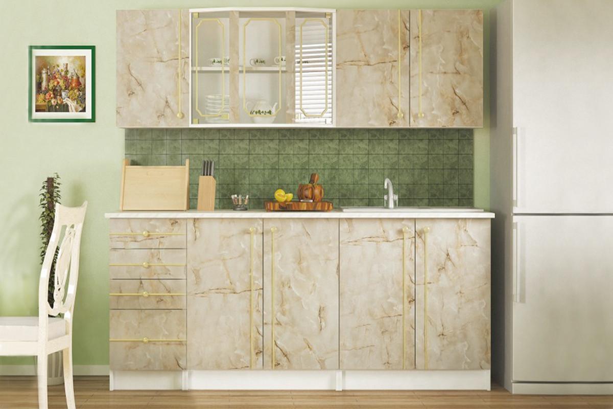 Комплект мебели для кухни Алина 2, Мрамор, MEBEL SERVICE(Украина)