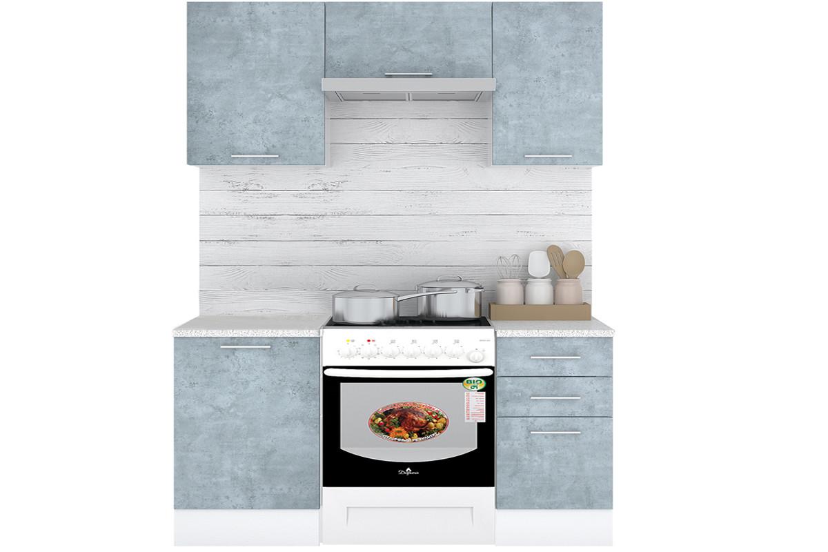 Комплект мебели для кухни Лофт 1500, Камень Оленна, Горизонт(Россия)