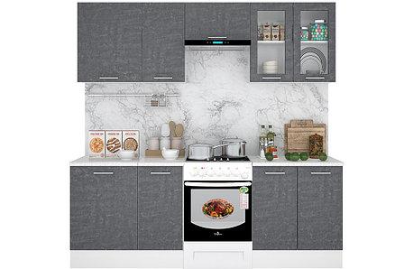Комплект мебели для кухни Лофт 2400, Камень Арья, Горизонт(Россия), фото 2