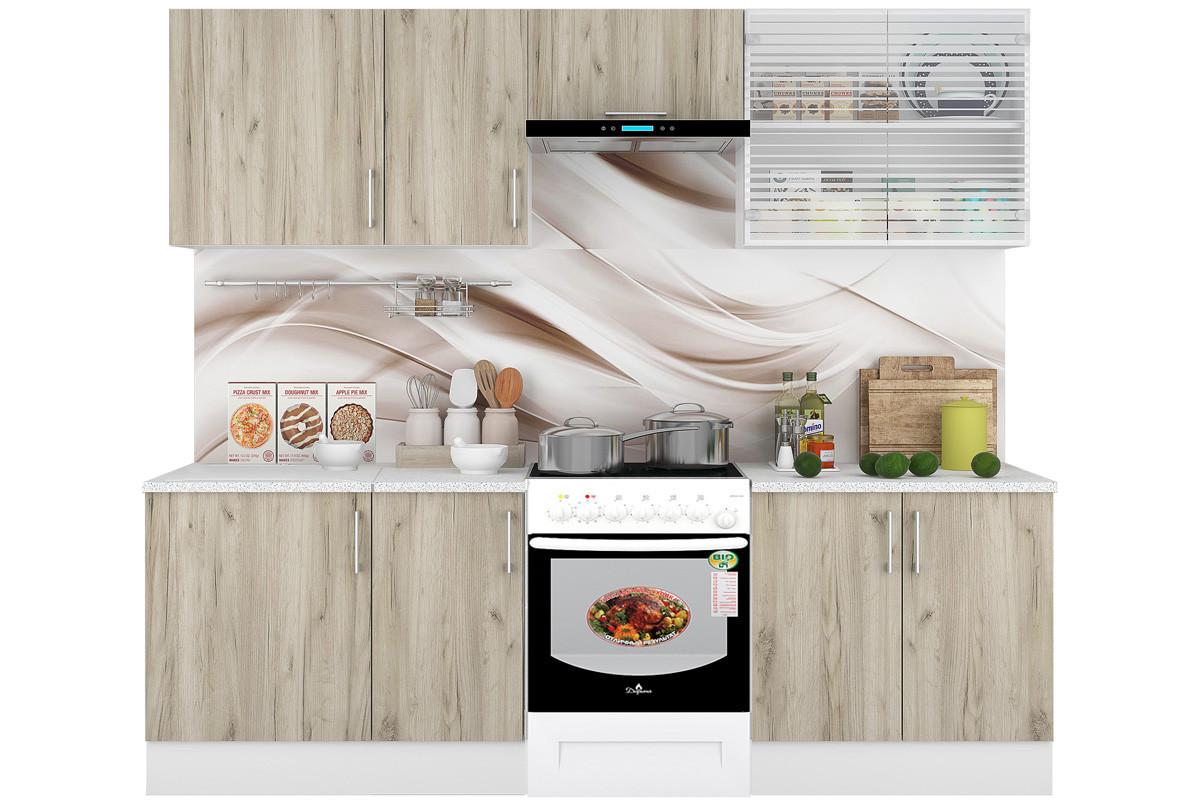 Комплект мебели для кухни Европа 2400, Серый, Горизонт(Россия)