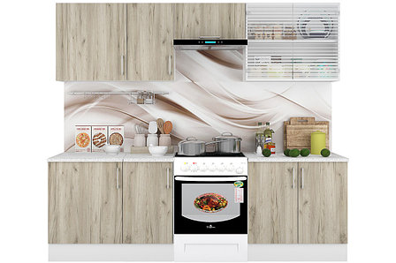 Комплект мебели для кухни Европа 2400, Серый, Горизонт(Россия), фото 2