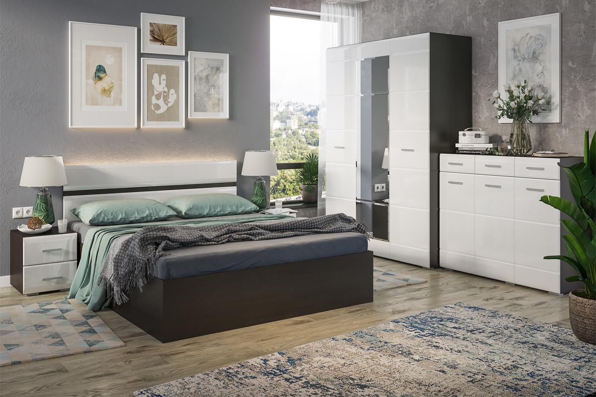 Комплект мебели для спальни Вегас, Белый, Стендмебель(Россия)