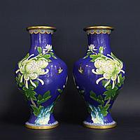 Парные вазы с хризантемами. II половина ХХ века
