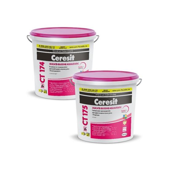 Силикатно-силиконовая штукатурка Ceresit CT 174