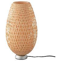 БОЙА Лампа настольная, никелированный, бамбук