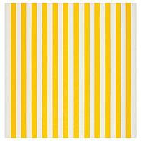 СОФИА Ткань, в широкую полоску, белый/желтый, 150 см