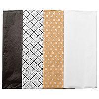ГИВАНДЕ Шелковая бумага, черный естественный, белый