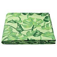 СОММАРЛИВ Скатерть, орнамент «листья», зеленый, 145x320 см