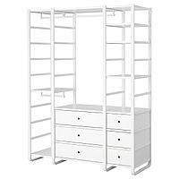 ЭЛВАРЛИ 3 секции, белый, 165x55x216 см