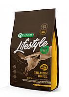 Сухой корм для щенков всех пород Nature's Protection Lifestyle Grain Free Starter Salmon&Krill лосось c крилем