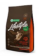 Сухой корм для собак миниатюрных и мелких пород Nature's Protection Lifestyle Grain Free Adult Salmon&Krill