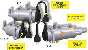 Северс-М 3.0 кВт, подогрев тосола 220V