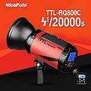 Аккумуляторная беспроводная TTL вспышка (студийный моноблок) 800 Дж и байонетом bowens Nflash TTL-RQ800C, фото 5
