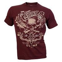 Мужская футболка, LOST REBELS Бордовый (XL)