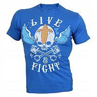 Мужская футболка, VOODOO MOTORS Синяя (L)
