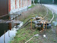 Откачка воды из котлованов