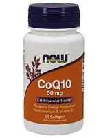 CoQ10 50 mg with Selenium & Vitamin E, 50 softgels, NOW