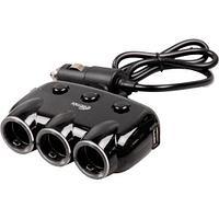 Зарядное устройство автомобильное RITMIX RM-3123DC black 2 порта USB + 3 прикуривателя