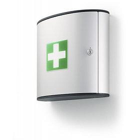 Шкафчик для медикаментов 280x302x118мм, 2 лотка, алюминий, серебристый металлик Durable