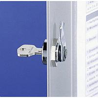 Шкафчик для медикаментов 280x302x118мм, 2 лотка, алюминий, серебристый металлик Durable, фото 5