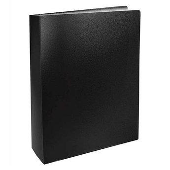 Папка с файлами, 60ф., А4, 0.6мм, BASIC, черный