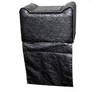 """AS-090 Кресло-пуфик детское переносное (черное, """"мятая кожа"""")"""