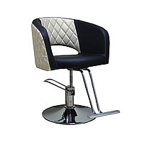 AS-7181 Кресло парикмахерское (черно-бежево-золотистое)