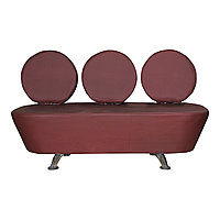 AS-7088 Скамейка для клиентов 3-х местная (темно-коричневая)