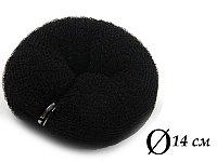 Валик для объема волос Q-66 черный Ø 14 см на кнопке AISULU (м) №70889(2)