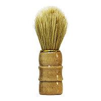 Помазок для бритья из ворса кабана не краш. #1-25 А, с деревян. ручкой №84626(2)