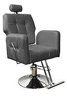 AS-8682 Кресло парикмахерское с откидной спинкой (серое, гладкое)