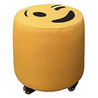 AS-3135 Пуфик для мастера маленький Смайлик (желтый, гладкий)