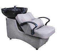 AS-006 Мойка парикмахерская с креслом (серая, гладкая)