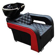 AS-6011 Мойка парикмахерская с креслом (черно-красная)