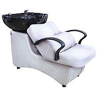 AS-006 Мойка парикмахерская с креслом (белая, гладкая)
