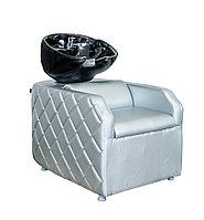 AS-007 Мойка парикмахерская с креслом (серебристая)
